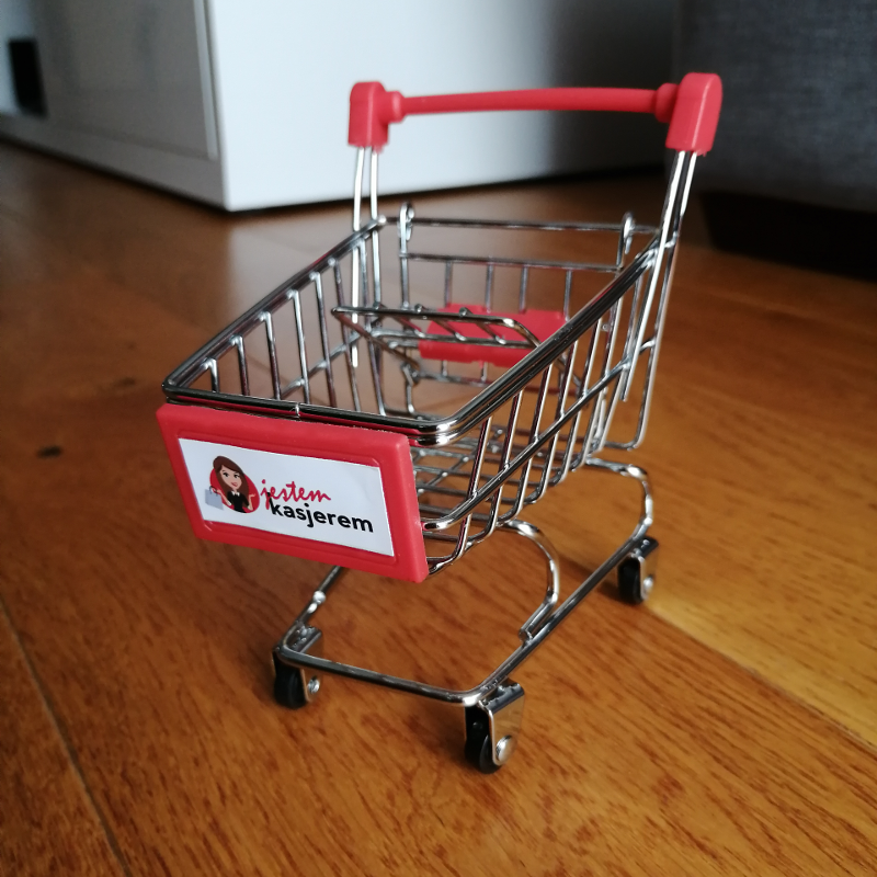 Mini wózek zakupowy